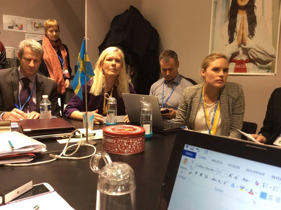 Möte m svenska delegationen 1