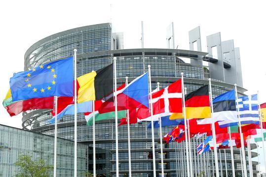 Europaparlamentet, en av EU:s tre institutioner.