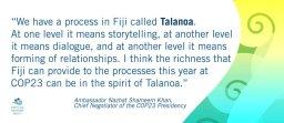 Talanoa Dialogue – inclusive, participatory and transparent