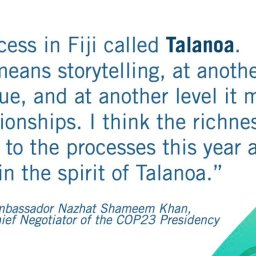 Talanoa Dialogue – inclusive, participatory and transparent