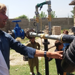 Farmer Gohar Ali hopes to improve his farming revenue by installing drip irrigation system